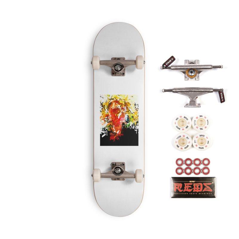 Red Man Walks Down the Street JVO2019 Accessories Complete - Pro Skateboard by jackievano's Artist Shop