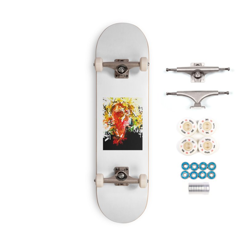 Red Man Walks Down the Street JVO2019 Accessories Complete - Premium Skateboard by jackievano's Artist Shop