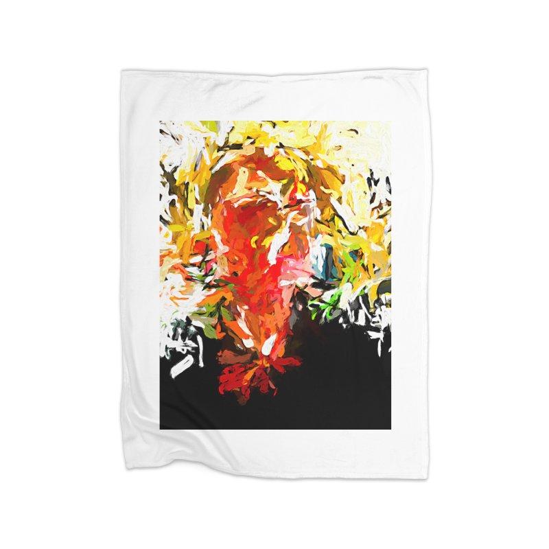 Red Man Walks Down the Street JVO2019 Home Fleece Blanket Blanket by jackievano's Artist Shop
