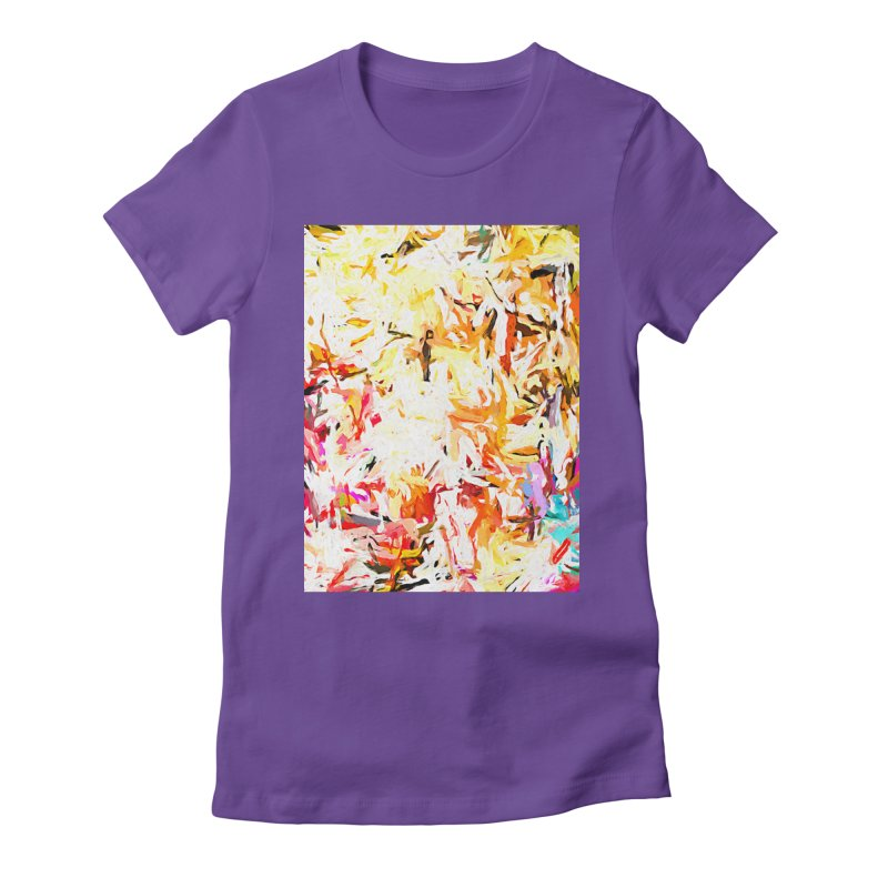 Red Lipstick on the Dance Floor JVO2019 Women's Fitted T-Shirt by jackievano's Artist Shop
