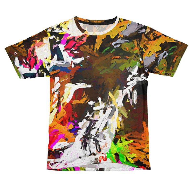 White Ship on the Stormy Seas JVO2019 Men's T-Shirt Cut & Sew by jackievano's Artist Shop
