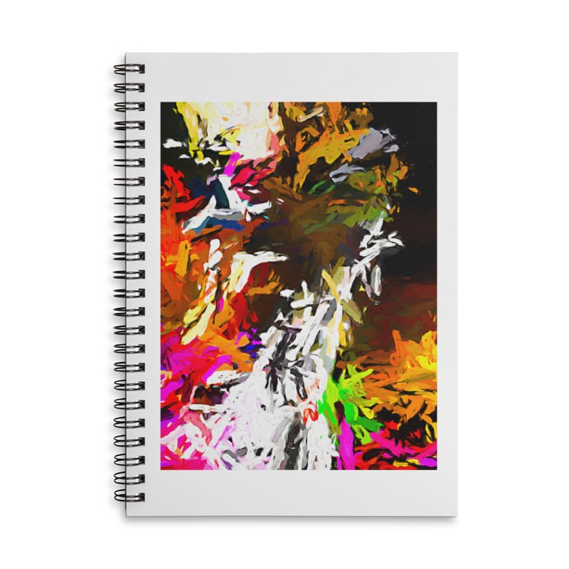 White Ship on the Stormy Seas JVO2019 Accessories Lined Spiral Notebook by jackievano's Artist Shop
