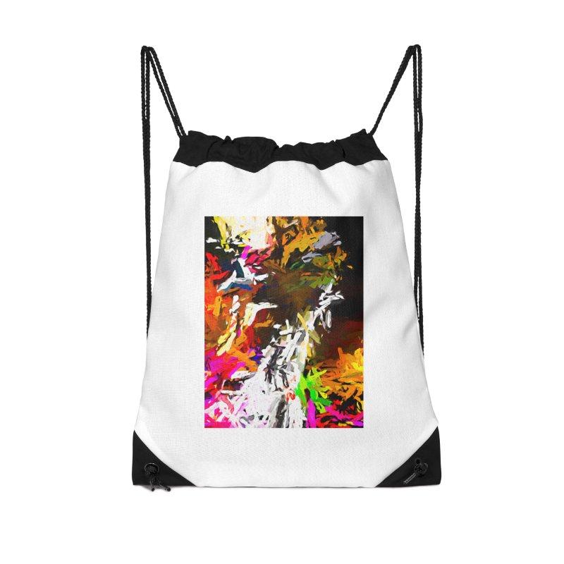 White Ship on the Stormy Seas JVO2019 Accessories Drawstring Bag Bag by jackievano's Artist Shop