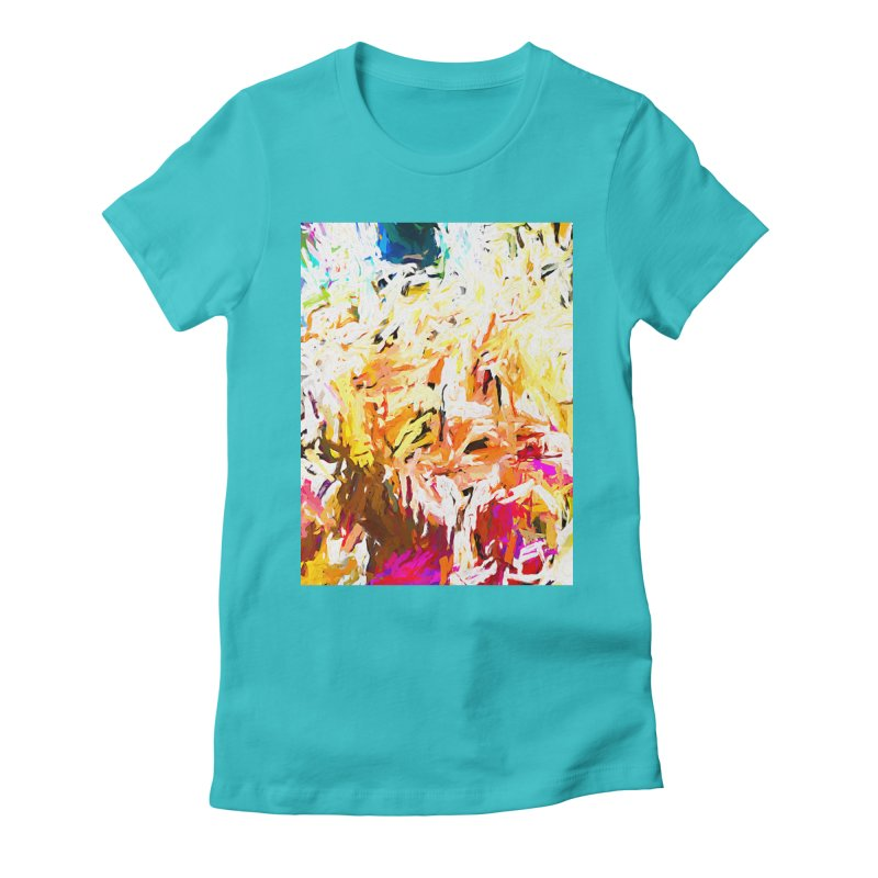 Variation on a Theme of Vanilla Ice Cream JVO2019 Women's Fitted T-Shirt by jackievano's Artist Shop