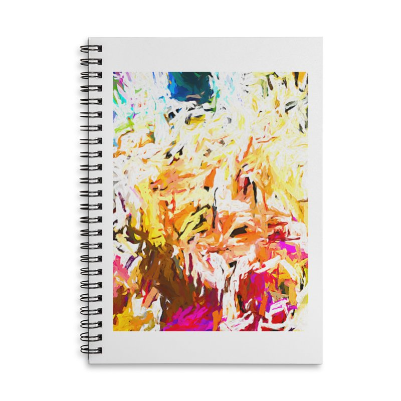 Variation on a Theme of Vanilla Ice Cream JVO2019 Accessories Lined Spiral Notebook by jackievano's Artist Shop
