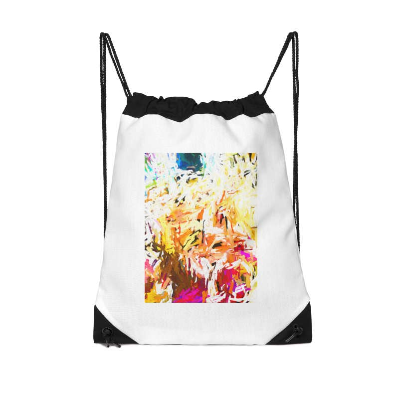 Variation on a Theme of Vanilla Ice Cream JVO2019 Accessories Drawstring Bag Bag by jackievano's Artist Shop