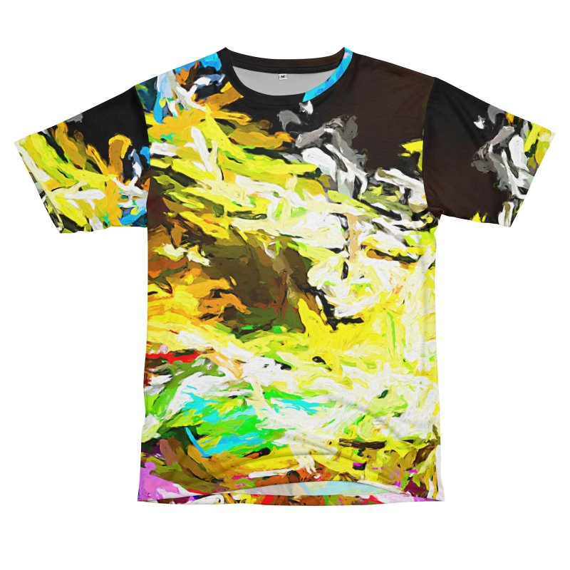 Red Lipstick on the Goldfish JVO2019 Men's T-Shirt Cut & Sew by jackievano's Artist Shop