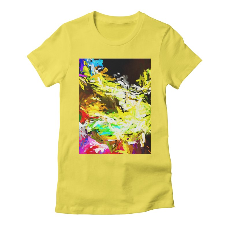 Red Lipstick on the Goldfish JVO2019 Women's Fitted T-Shirt by jackievano's Artist Shop