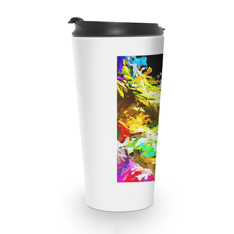 Red Lipstick on the Goldfish JVO2019 Accessories Travel Mug by jackievano's Artist Shop