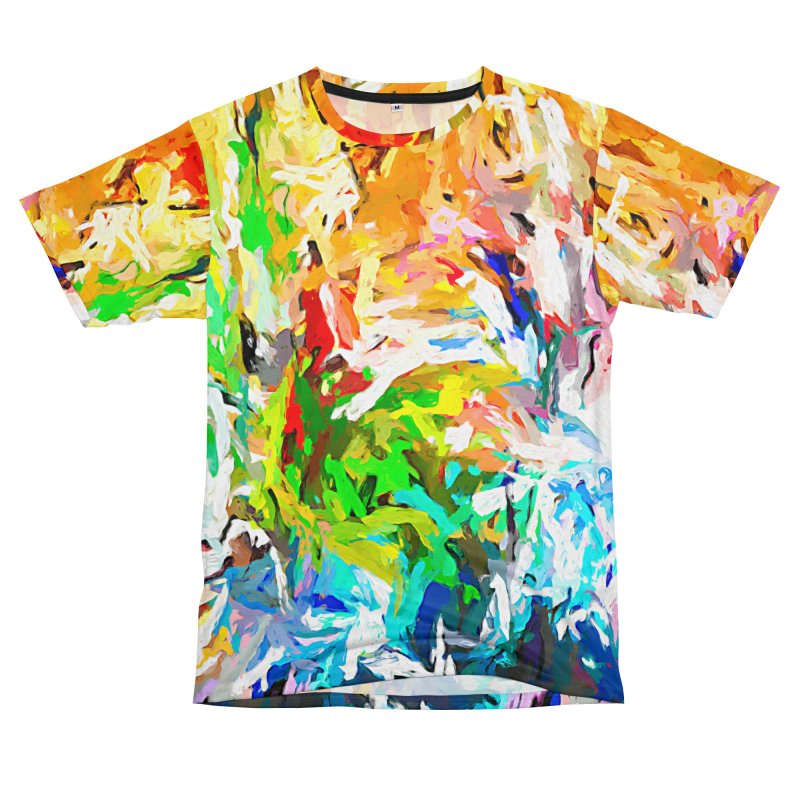 Green Curry Climbs up the Wall JVO2019 Women's Unisex T-Shirt Cut & Sew by jackievano's Artist Shop