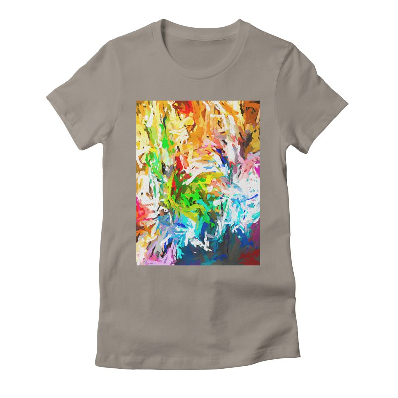 Green Curry Climbs up the Wall JVO2019 Women's Fitted T-Shirt by jackievano's Artist Shop