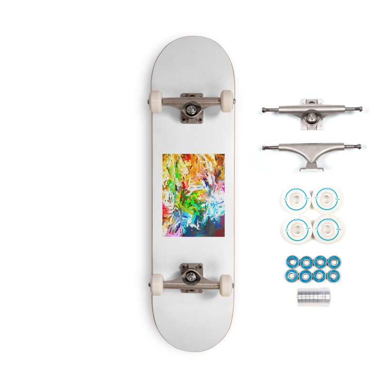 Green Curry Climbs up the Wall JVO2019 Accessories Complete - Basic Skateboard by jackievano's Artist Shop
