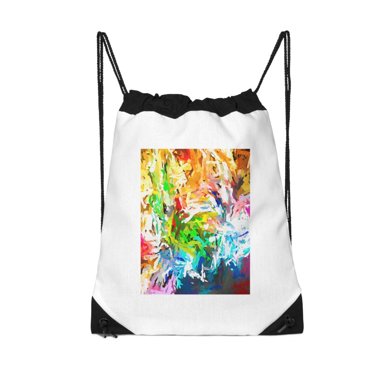 Green Curry Climbs up the Wall JVO2019 Accessories Drawstring Bag Bag by jackievano's Artist Shop
