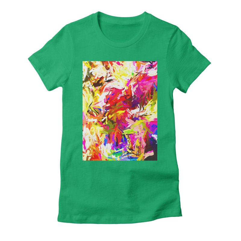 Totem Pink Duck Dog JVO2019 Women's Fitted T-Shirt by jackievano's Artist Shop