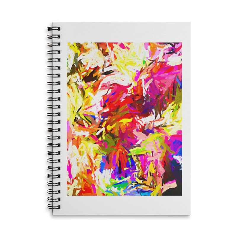 Totem Pink Duck Dog JVO2019 Accessories Lined Spiral Notebook by jackievano's Artist Shop
