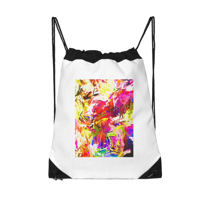 Totem Pink Duck Dog JVO2019 Accessories Drawstring Bag Bag by jackievano's Artist Shop
