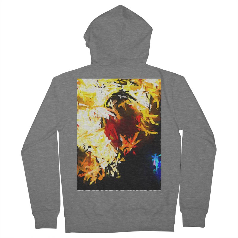 Ever Watching Eye Screams at the World JVO2020 Men's French Terry Zip-Up Hoody by jackievano's Artist Shop