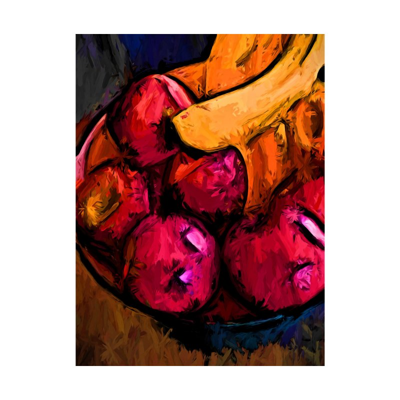 Pink Apples and Gold Bananas by jackievano's Artist Shop