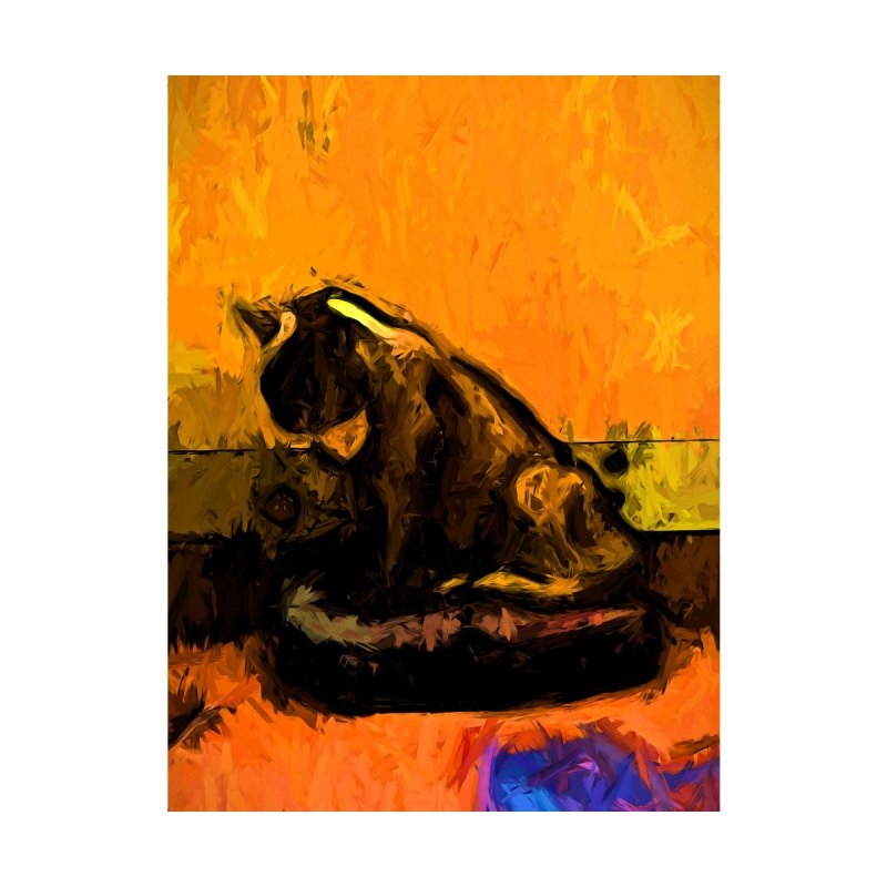 Cat and a Gold Wall by jackievano's Artist Shop