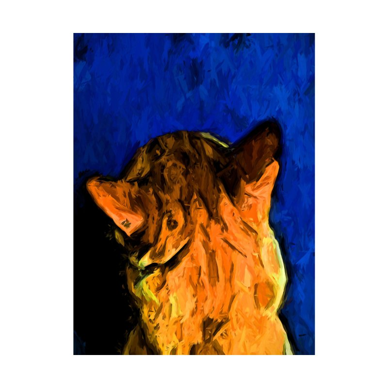 Back of a Cat's Head with some Blue by jackievano's Artist Shop