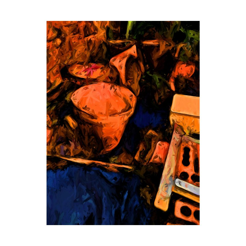 Abandoned Orange Pots with some Blue by jackievano's Artist Shop