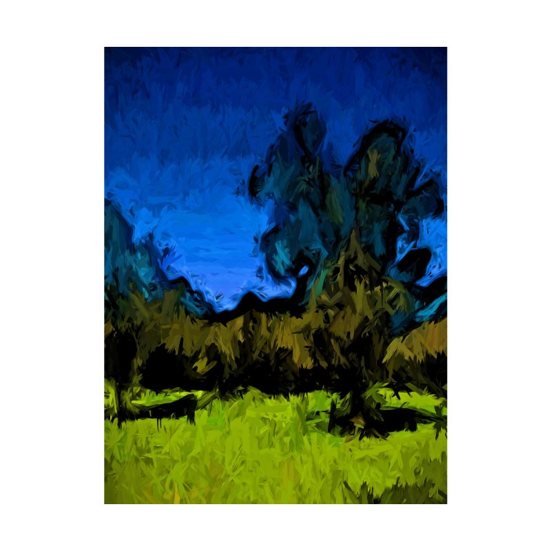 Gold Trees in the Blue Wind by jackievano's Artist Shop