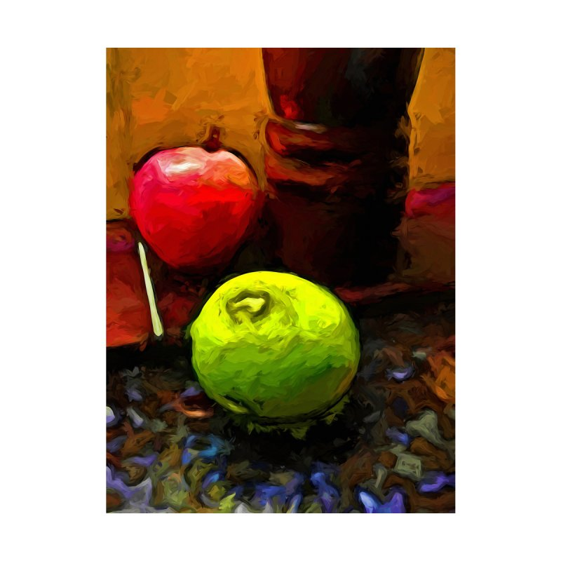 Green Lime with Red Apple and Brown Pepper Grinder by jackievano's Artist Shop