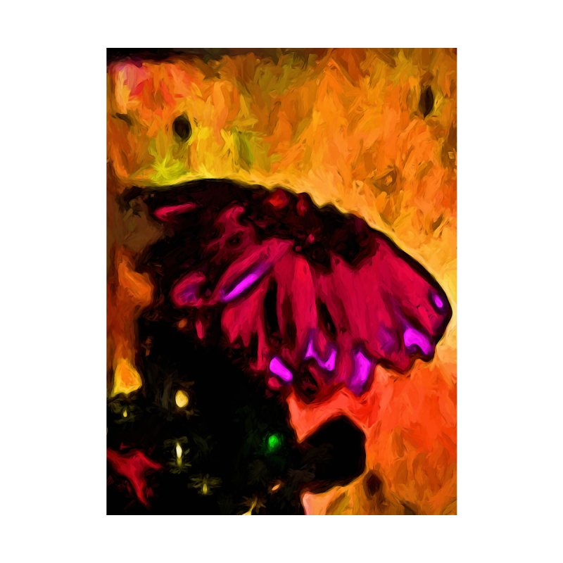 Pink and Red Flower with some Gold by jackievano's Artist Shop