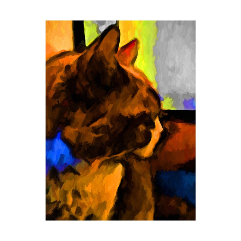 Brown and Blue Cat with some Yellow by jackievano's Artist Shop
