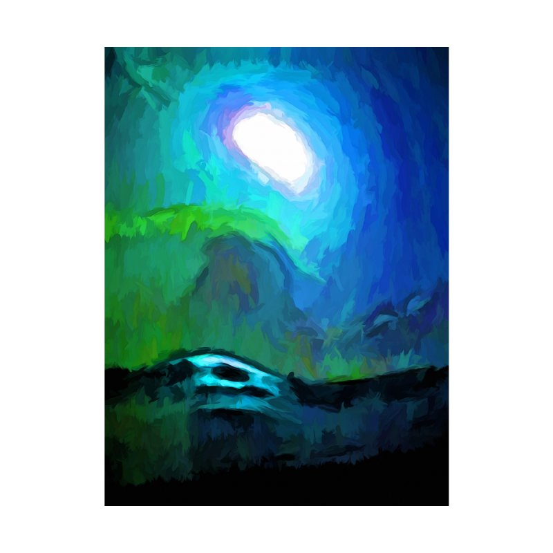 Moon in a Blue and Green Sky and on the Sea 3 by jackievano's Artist Shop
