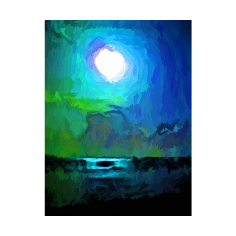 Moon in a Blue and Green Sky and on the Sea 1 by jackievano's Artist Shop