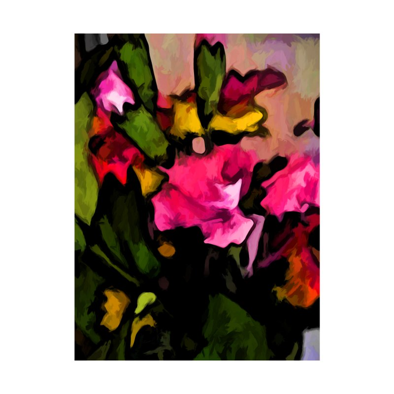Still Life of Pink Flowers and Green Leaves by jackievano's Artist Shop