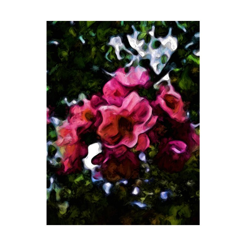 Pink Blossoms and Green Leaves with some Black by jackievano's Artist Shop