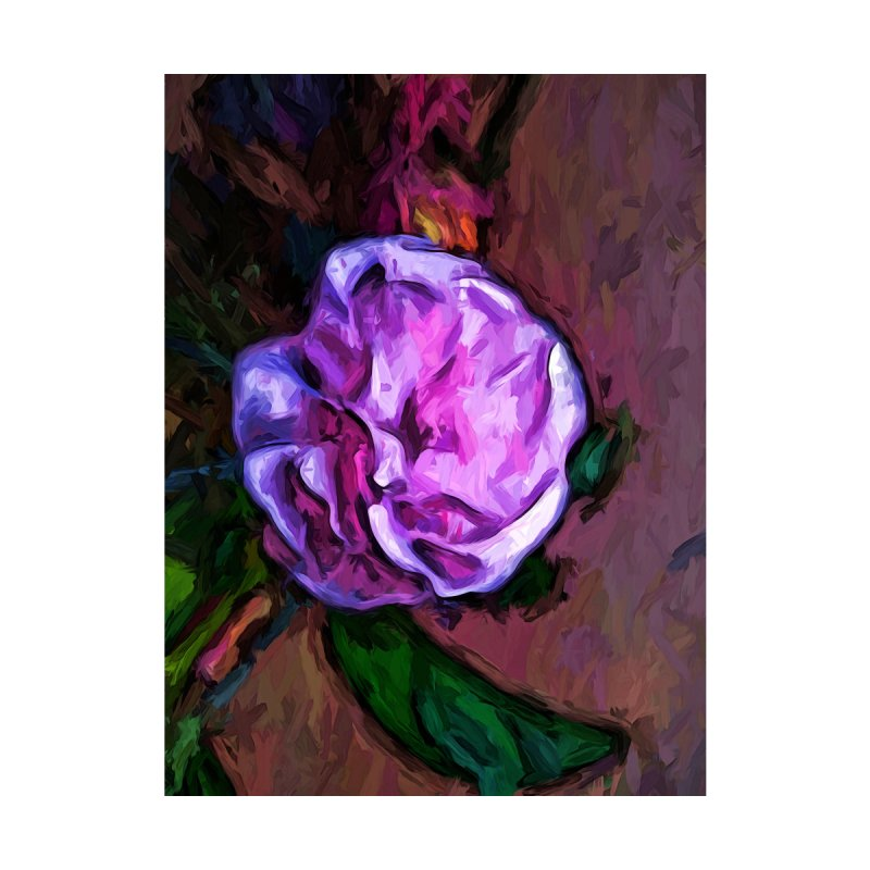 Pale Pink Flower with a Green Leaf by jackievano's Artist Shop
