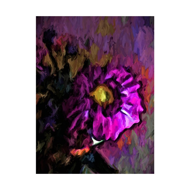 Still Life with a Pink and Lavender Flower by jackievano's Artist Shop