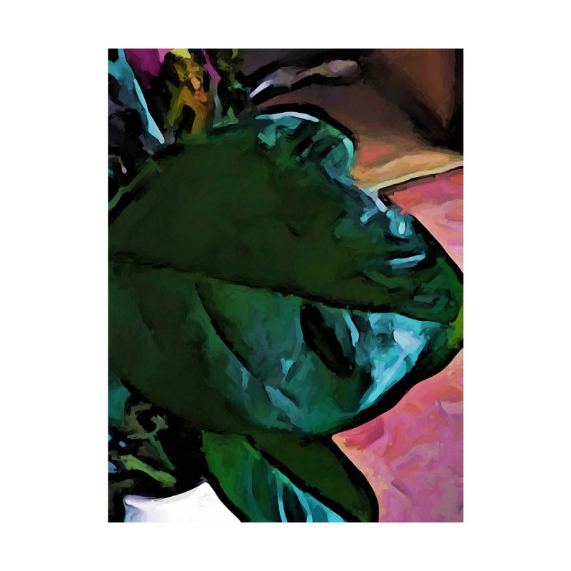 Green and Turquoise Leaf with a Pink Floor by jackievano's Artist Shop