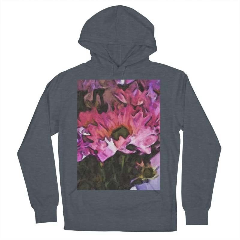 Pink Flowers and Green Leaves 5 Men's Pullover Hoody by jackievano's Artist Shop
