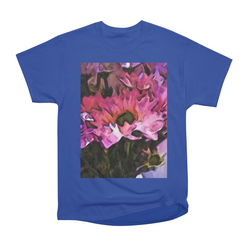 Pink Flowers and Green Leaves 5 Men's Classic T-Shirt by jackievano's Artist Shop