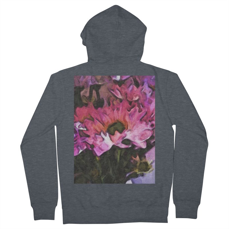 Pink Flowers and Green Leaves 5 Women's Zip-Up Hoody by jackievano's Artist Shop