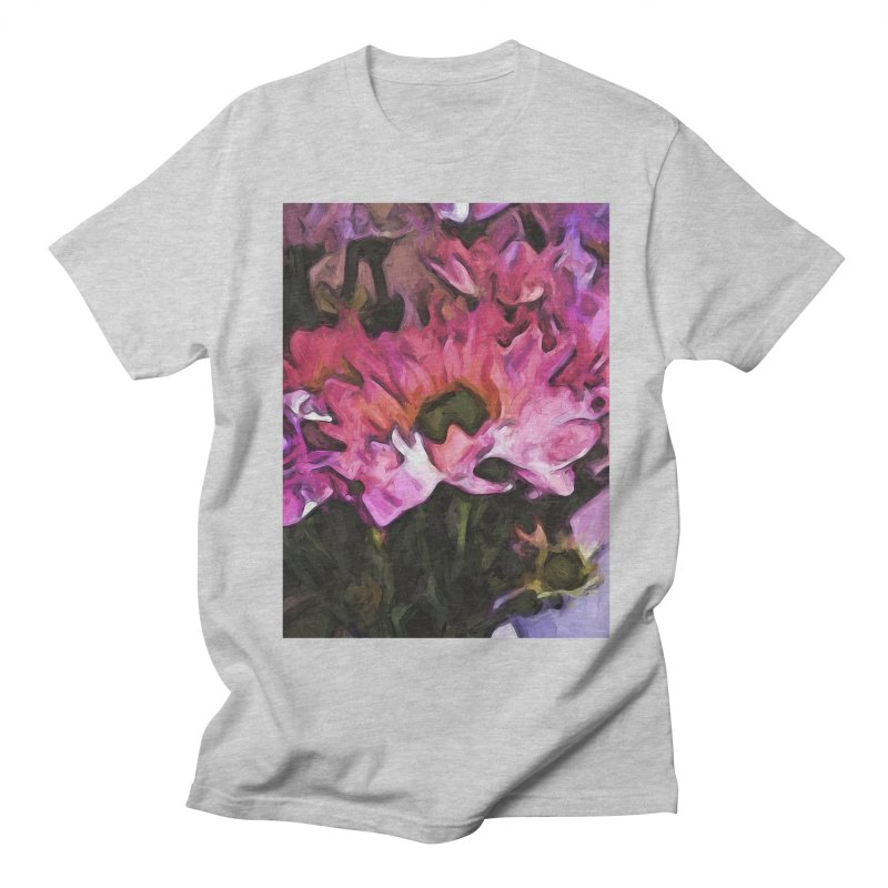 Pink Flowers and Green Leaves 5 Women's Unisex T-Shirt by jackievano's Artist Shop