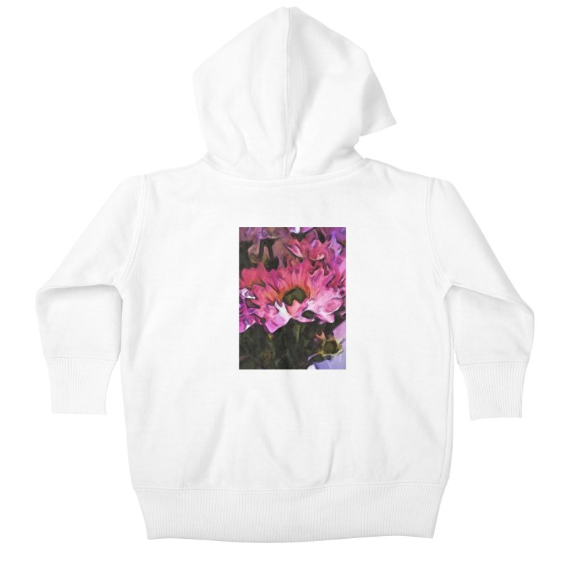 Pink Flowers and Green Leaves 5 Kids Baby Zip-Up Hoody by jackievano's Artist Shop