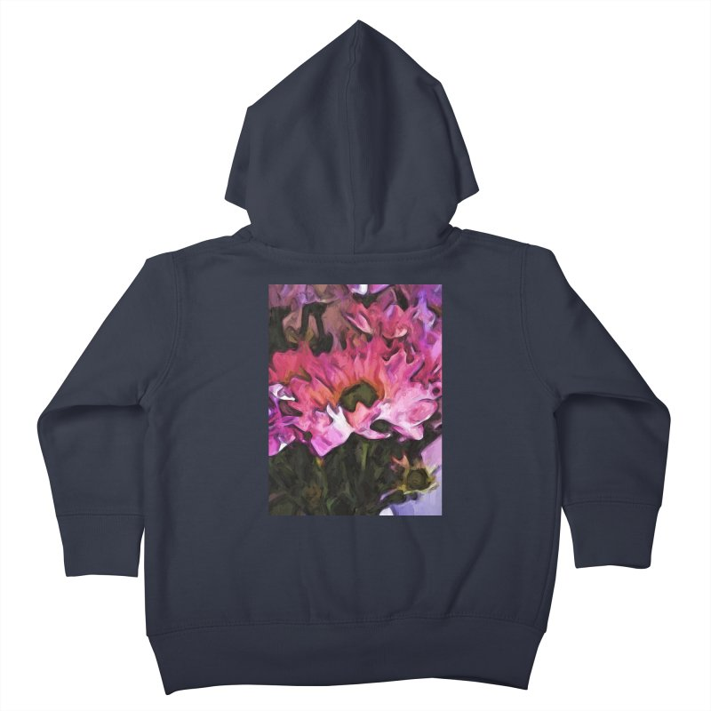 Pink Flowers and Green Leaves 5 Kids Toddler Zip-Up Hoody by jackievano's Artist Shop