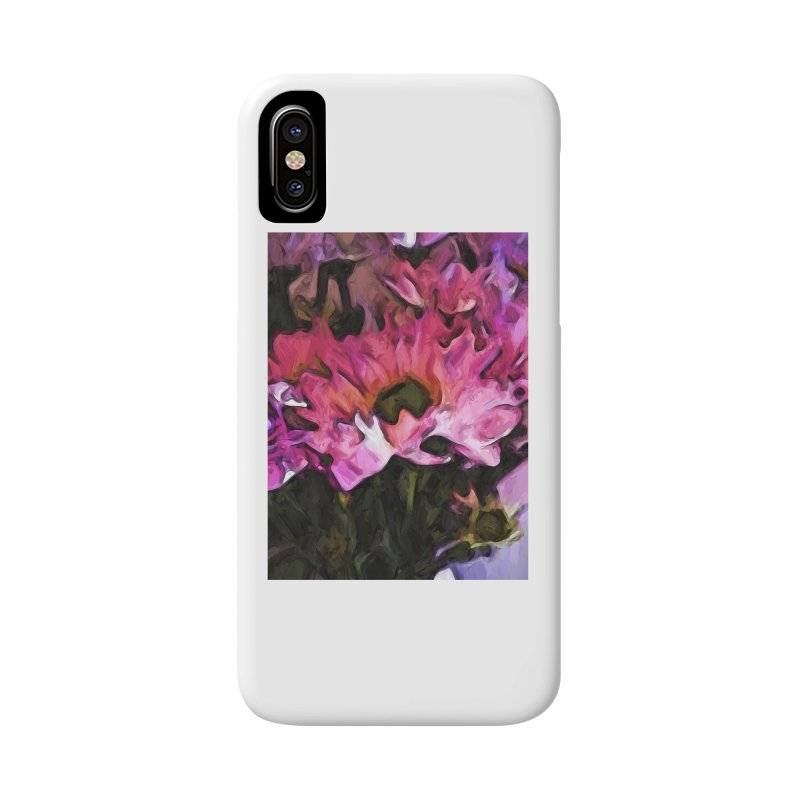 Pink Flowers and Green Leaves 5 Accessories Phone Case by jackievano's Artist Shop