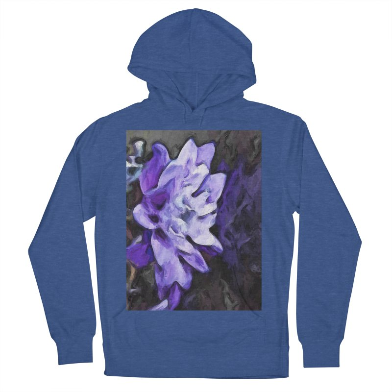 Purple Flower and Reflection Men's Pullover Hoody by jackievano's Artist Shop