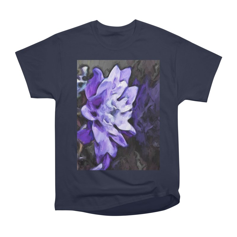 Purple Flower and Reflection Men's Classic T-Shirt by jackievano's Artist Shop