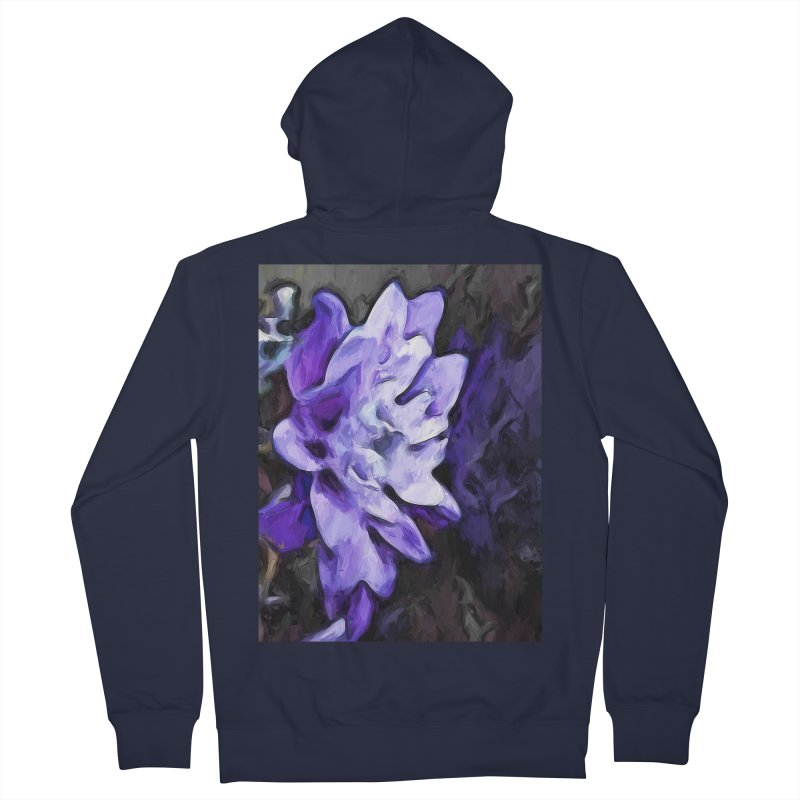 Purple Flower and Reflection Women's Zip-Up Hoody by jackievano's Artist Shop