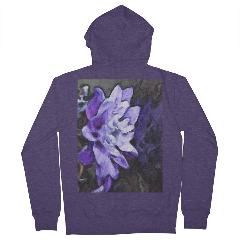 Purple Flower and Reflection Men's Zip-Up Hoody by jackievano's Artist Shop