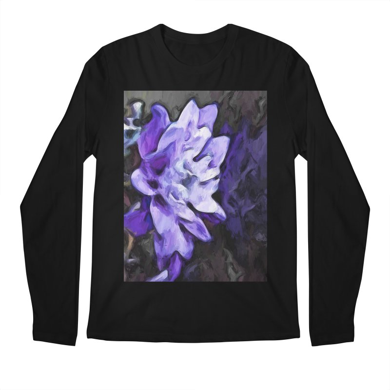 Purple Flower and Reflection Men's Longsleeve T-Shirt by jackievano's Artist Shop