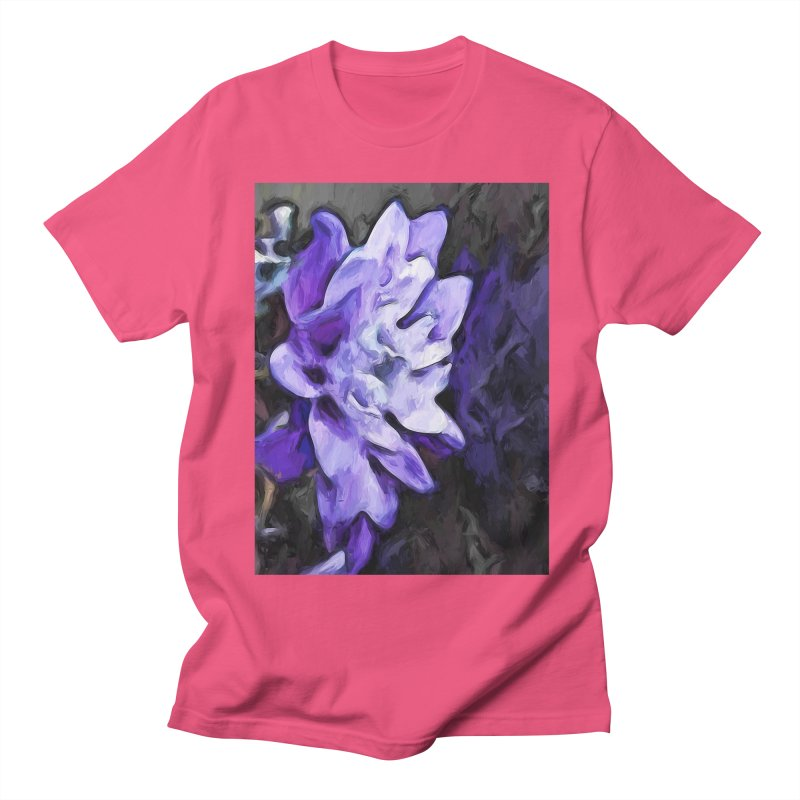 Purple Flower and Reflection Men's T-Shirt by jackievano's Artist Shop