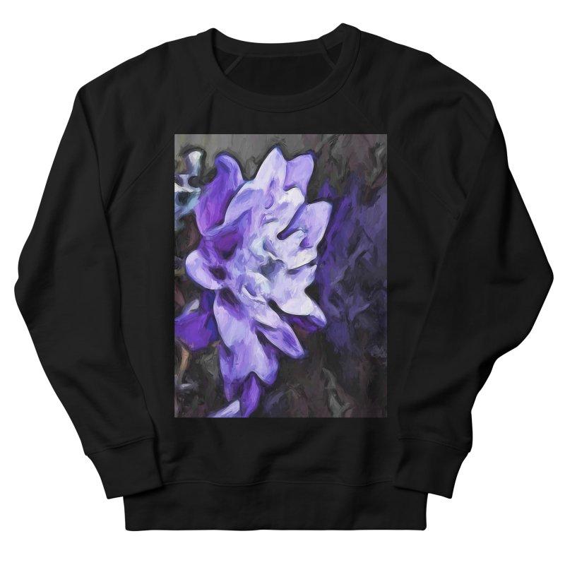 Purple Flower and Reflection Men's Sweatshirt by jackievano's Artist Shop